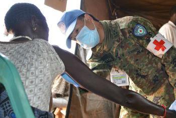 Centro médico no Sudão do Sul. Foto: Unmiss