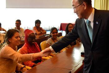 Secretário-geral em visita à Organização Internacional do Trabalho. Foto: OIT/Marcel Crozet