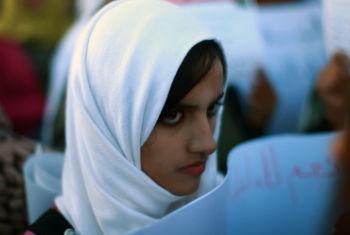 Jovem líbia. Foto: ONU/Iason Foounten