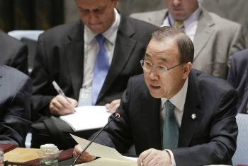 Ban Ki-moon discute situação do Oriente Médio no Conselho de Segurança. Foto: ONU/Evan Schneider