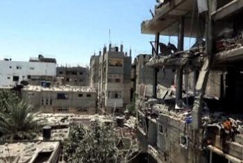 Prédios de Gaza após operações militares