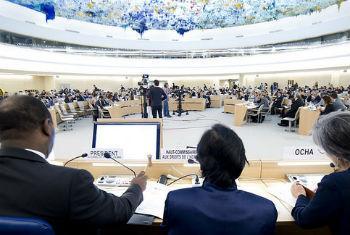 Sessão no Conselho dos Direitos Humanos. Foto: ONU/Violaine Martin