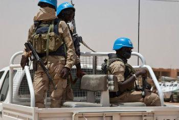 Capacetes azuis em Kidal, Mali. Foto: Minusma/Blagoje Grujic