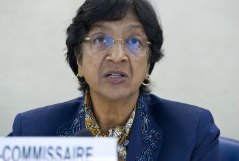Navi Pillay nesta quarta-feira em Genebra. Foto: ONU/Violaine Martin