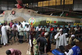 População deslocada em Bangui. Foto: OIM/Sandra Black