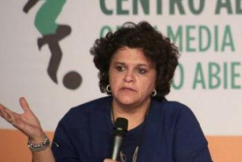 Izabella Teixeira em coletiva de imprensa no Rio de Janeiro. Foto: Pnuma
