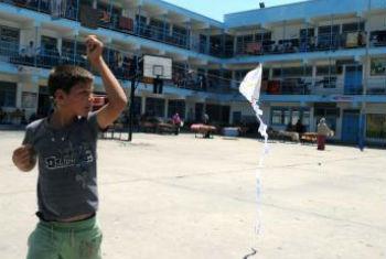 Uma das escolas da ONU em Gaza. Foto: Unrwa