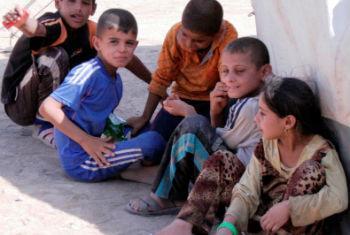 Crianças iraquianas. Foto: Unami