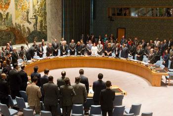 Conselho de Segurança fez um minuto de silêncio em memória às vítimas. Foto: ONU/Loey Felipe