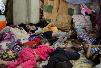 Família deixou a cidade de Sinjar. Foto: Acnur/N.Colt