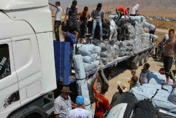 Ajuda humanitária no Iraque. Foto: Acnur/E.Colt