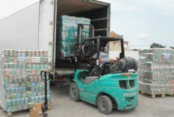 Camiões com ajuda chegam à Líbia. Foto: Acnur/A.Ibrahim
