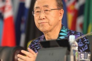 Ban Ki-moon em Samoa.