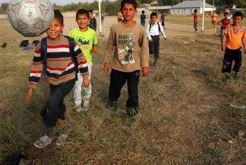Jogo amistoso para combater a fome no mundo. Foto: FAO/Vasily Maximov