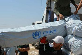 Chegada do material ao Iraque. Foto: Acnur