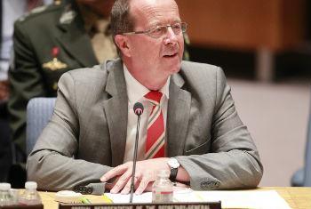 Martin Kobler em reunião no Conselho de Segurança. Foto: ONU/Paulo Filgueiras