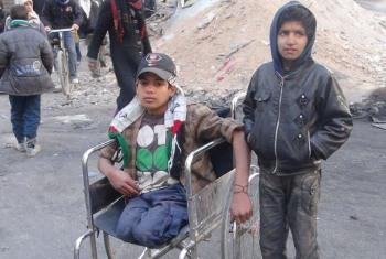 Civis feridos pelo conflito em Gaza. Foto: Unrwa.