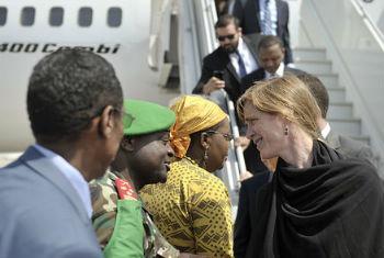 Membros do Conselho de Segurança chegam à Somália. Foto: ONU/Tobin Jones