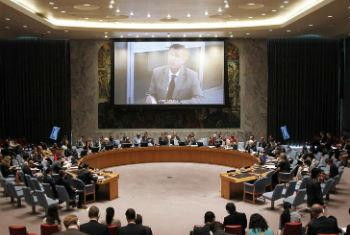 Ivan Simonovic fala ao Conselho de Segurança. Foto: ONU/Paulo Filgueiras