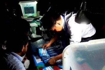 Auditoria das eleições no Afeganistão. Foto: Unama