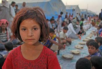 Criança iraquiana em campo de refugiados. Foto: Unicef