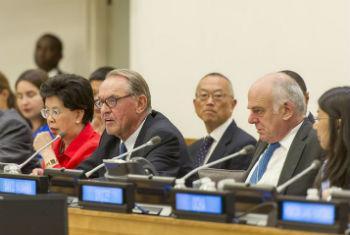 Reunião sobre o surto de ebola na sede da ONU. Foto: ONU/Mark Garten