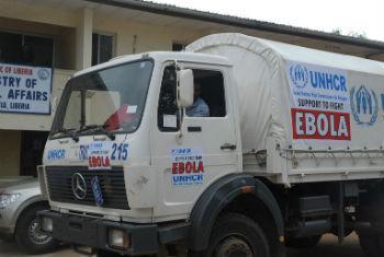 Camião do Acnur na Libéria. Foto: Unmil