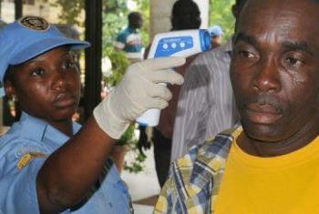 Combate ao vírus na Libéria. Foto: Unmil