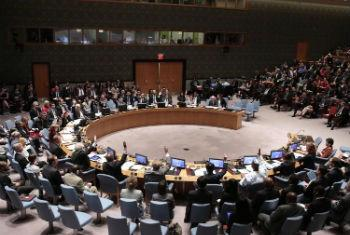 Adoção da resolução no Conselho de Segurança. Foto: ONU/Evan Schneider