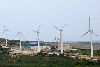 Central de energia eólica. Foto: Banco Mundial