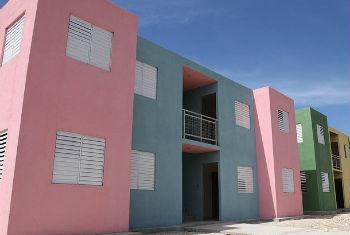 Projeto de urbanização no Haiti. Foto: ONU Habitat