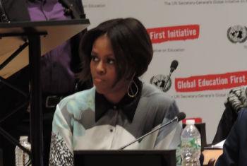 Michelle Obama no Conselho de Tutela da ONU. Foto: Rádio ONU