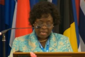 Natalia Pedro da Costa Umbelina Neto. Foto: Reprodução vídeo ONU Webcast