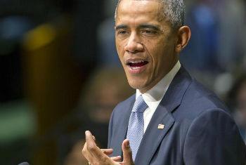 Barack Obama discursa na 69ªAssembleia Geral. Foto: ONU/Mark Garten