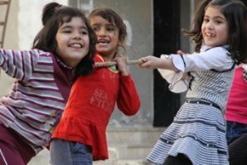 Crianças sírias. Foto: Unicef