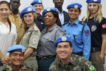Boinas-azuis da ONU. Foto: Unmiss