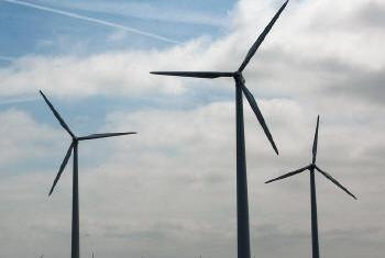 Produção de energia eólica. Foto: ONU/Eskinder Debebe