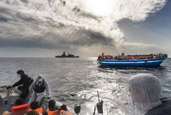 Aumento de travessias no Mediterrâneo. Foto: Acnur/M.Sestin