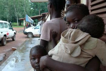 Deslocados centro-africanos. Foto: Ocha/C. Illemassene