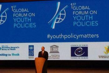 Foto: Fórum Global sobre Política da Juventude