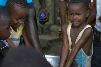 Dia Mundial da Lavagem das Mãos. Foto: Unicef