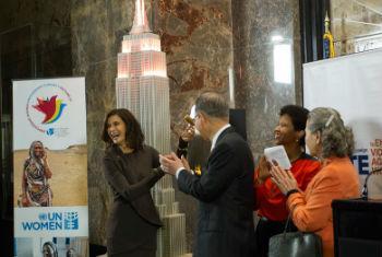 Secretário-geral da ONU, Ban Ki-moon, participa de evento para marcar o Dia Internacional para a Eliminação da Violência contra as Mulheres. Foto: ONU/Rick Bajornas