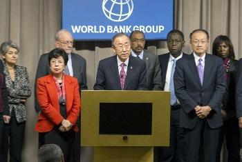 Ban Ki-moon no Banco Mundial. Foto: Eskinder Debebe