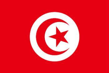 Bandeira da Tunísia.