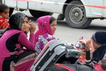 Aumento de mulheres a cruzar o Mediterrâneo. Foto: OIM