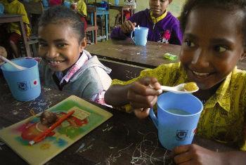 Programa de alimentação escolar. Foto: PMA