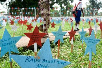 Combate à violência contra a mulher. Foto: ONU/Christopher Herwig