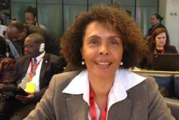 Cristina Duarte na sede da FAO. Foto: Rádio ONU