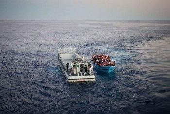 Chegadas recordes de migrantes. Foto: Acnur/A. D'Amato