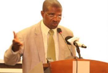 António Bento Bembe. Foto: Rádio ONU
